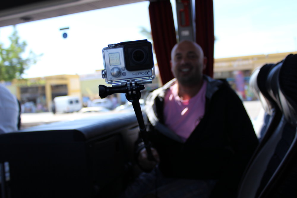GoPro guru Fedja Salihbasic in the bus