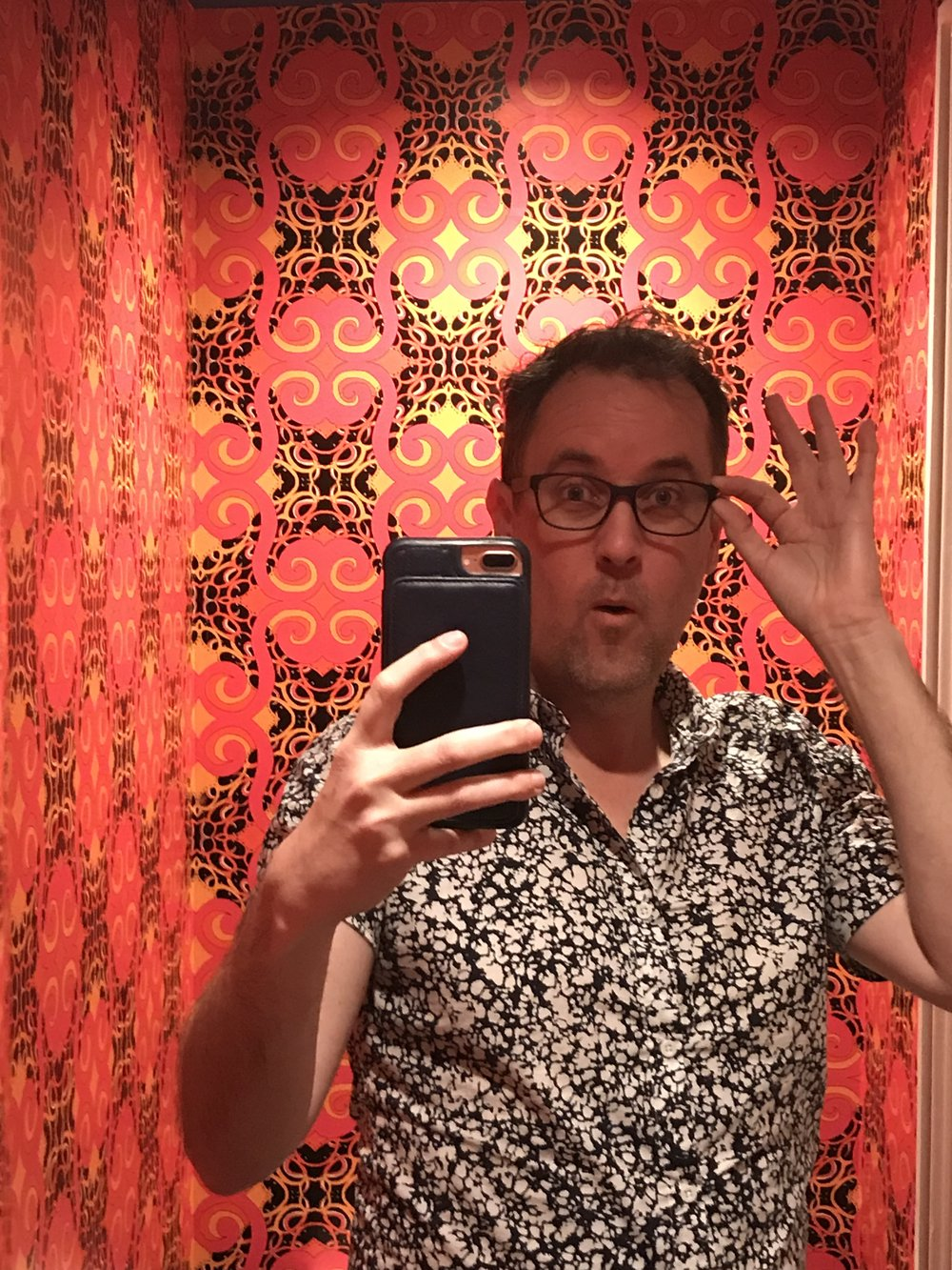 Me posing with wallpaper by my good friend Sean Yseult from yseultdesigns.com