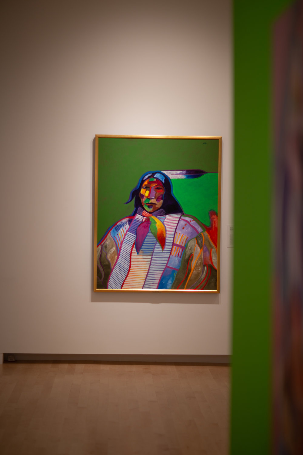 """Plains Warrior with Breastplate"" (1998), John Nieto"