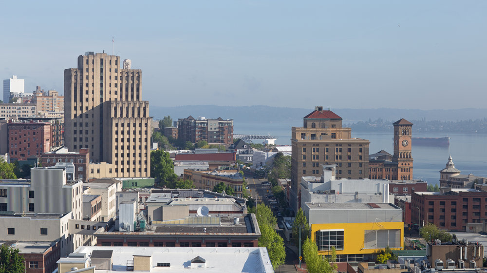 Hotel Murano views of downtown Tacoma