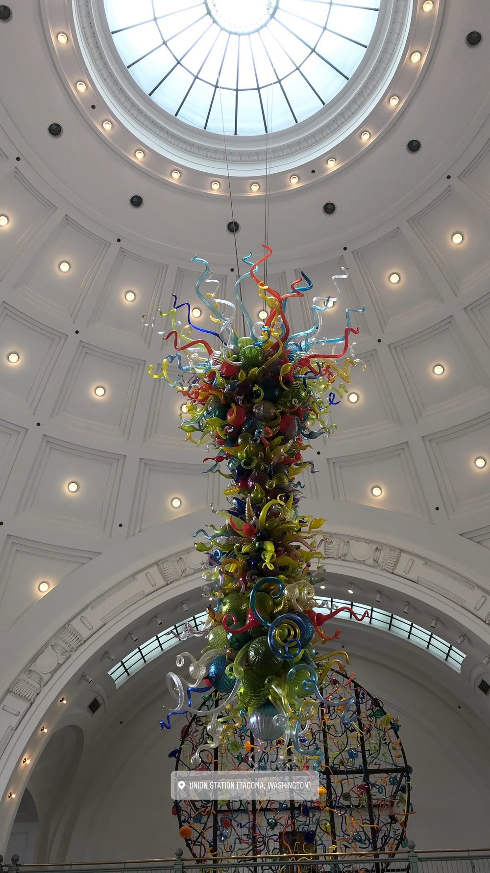 Art at the Union Station courthouse lobby
