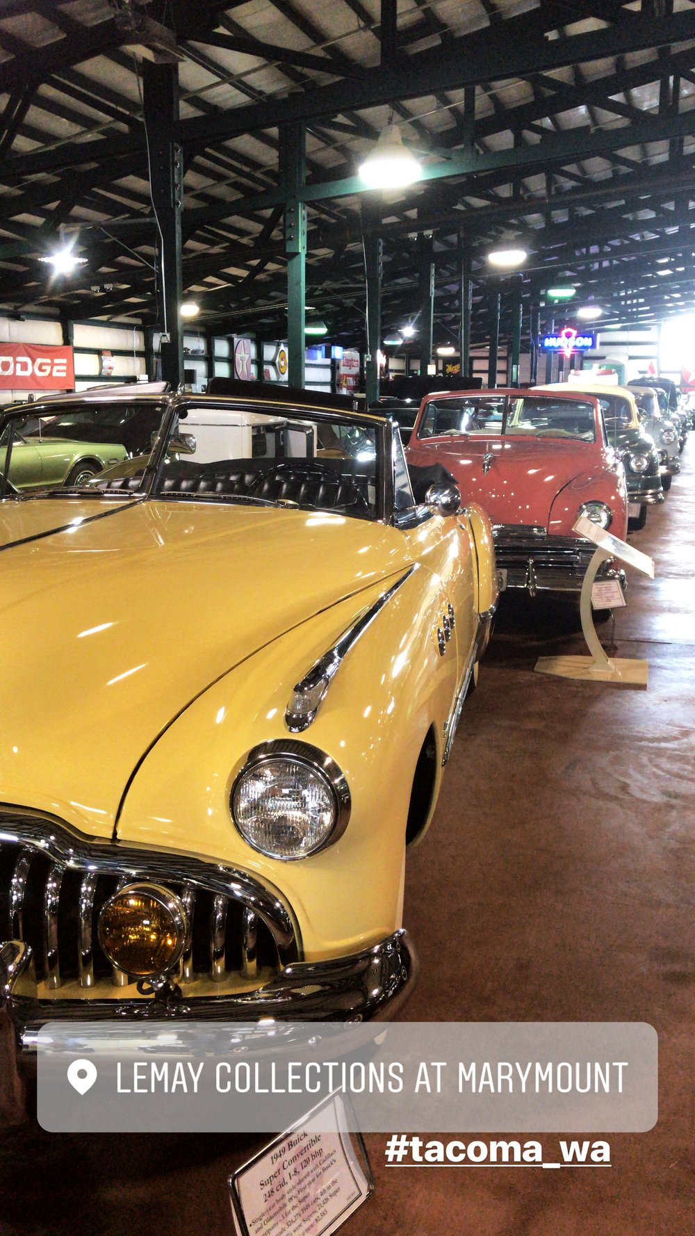A row of cars in the collections