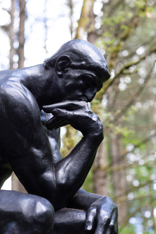 Rodin's Thinker bronze statue