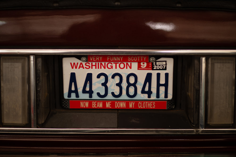 Humor on a license plate holder