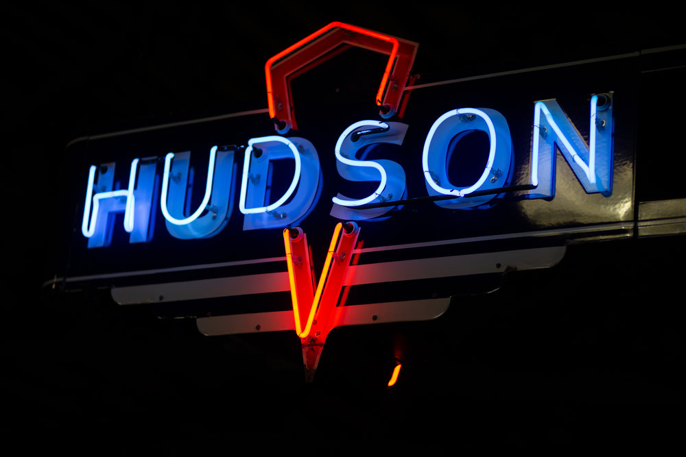 Hudson neon sign