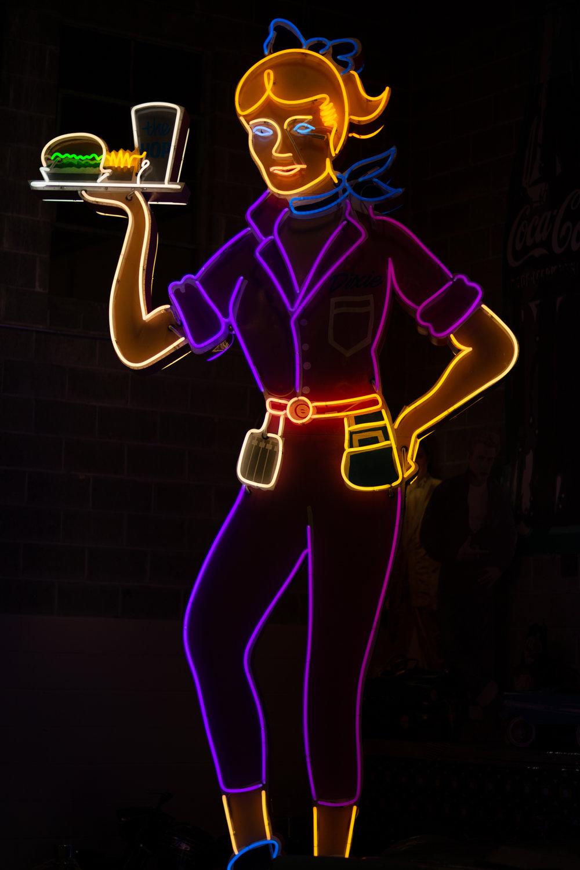Waitress neon