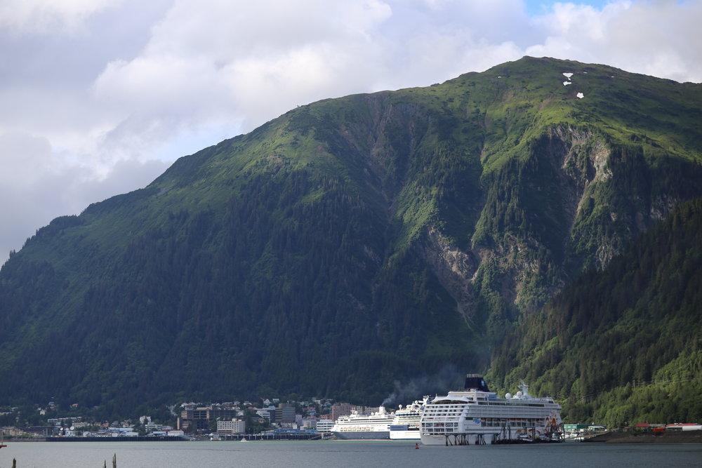 Beautiful port town of Juneau, Alaska