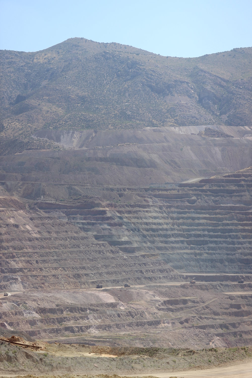 Strip mining south of Superior