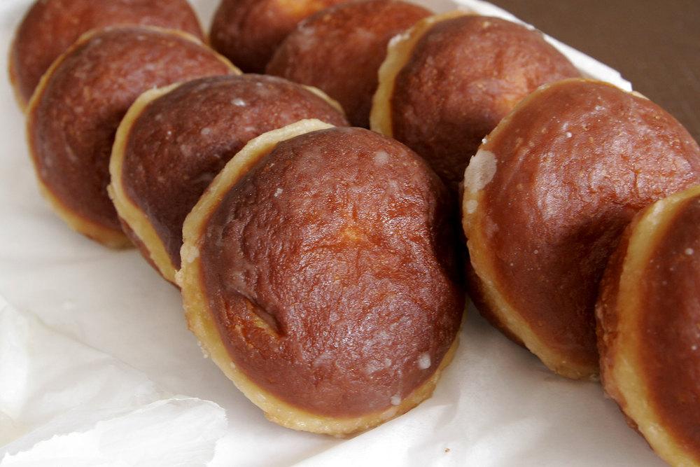 Pączki, a Polish pastry similar to a doughnut