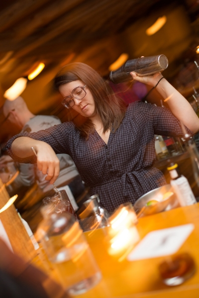 Restaurant Good Luck bartender Elise Barnard