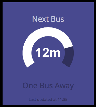 "The ""Next Bus"" widget"