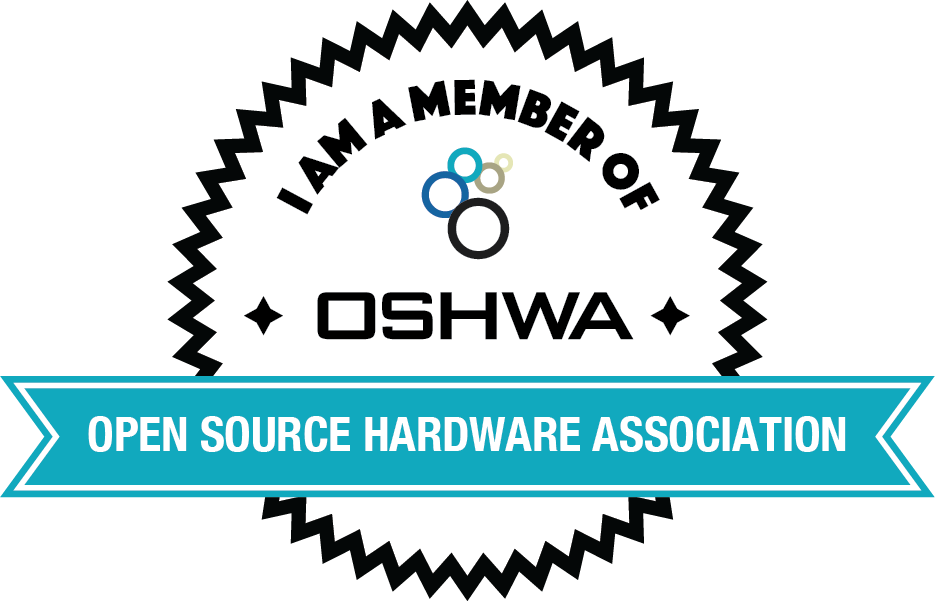 Open Source Hardware Association , member since 2014