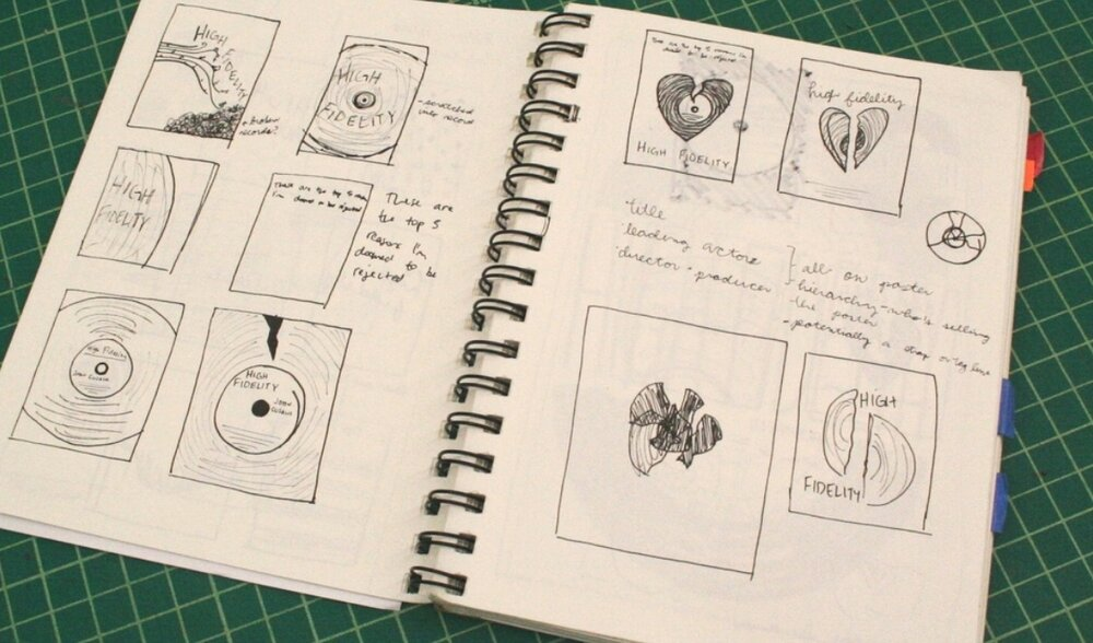 High Fidelity Poster Sketches