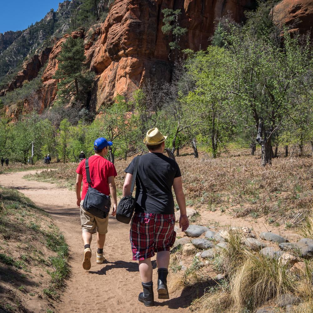 Unsere erste kleine Wanderung - West Fork im Oak Creek Canyon