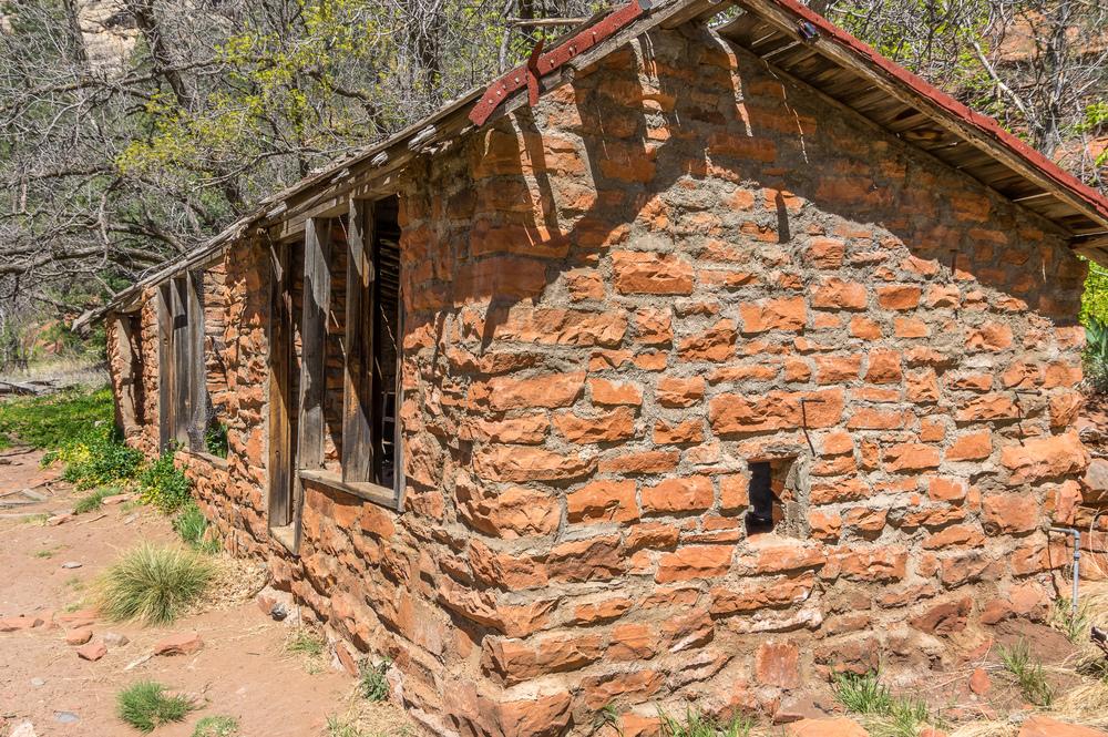 Ruinen von Mayhew´s Lodge.