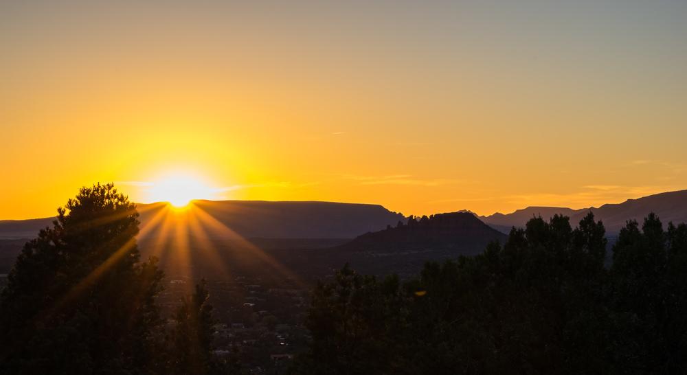 Sonnenuntergang gesehen vom Sedona Airport