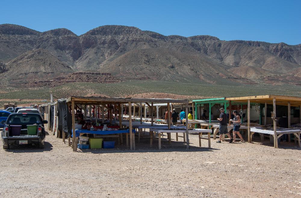 Verkaufsstände an der Little Colorado River Gorge