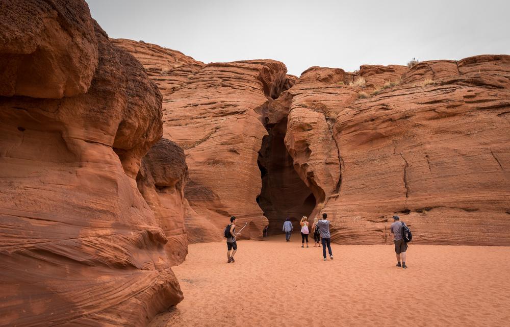 Der Eingang zum Upper Antelope Canyon.