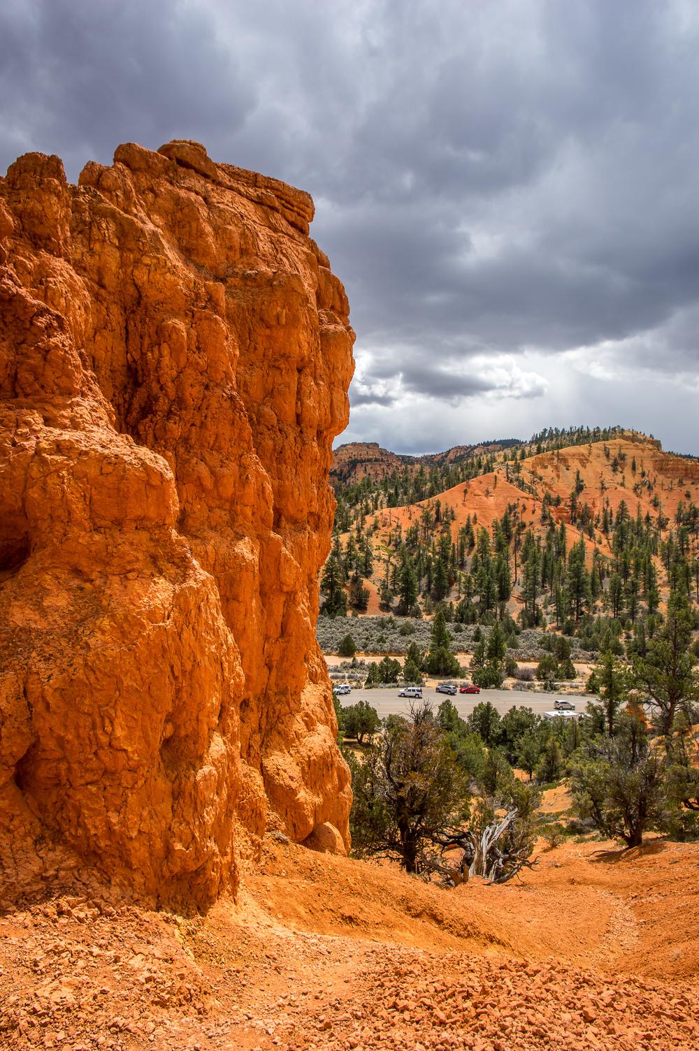 Die ersten Einblicke in die fantastischen Steinformationen der Region.