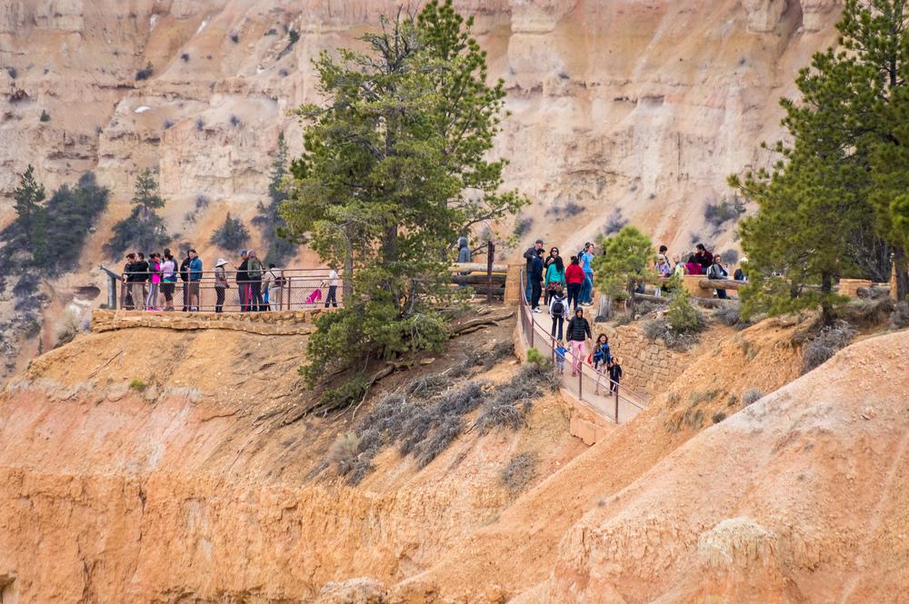 An den Aussichtspunkten war es voll, Weiter im Canyon wurde es immer leerer.