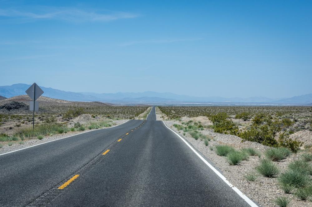 Von Las Vegas zum Death Valley. Hitze, Weite, Einsamkeit.