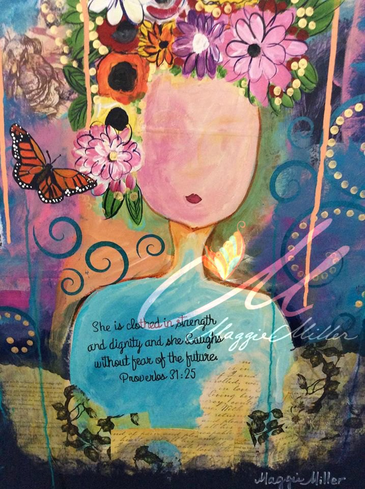 Mix media painting on watercolor paper ©maggiegmillerenterprisesllc