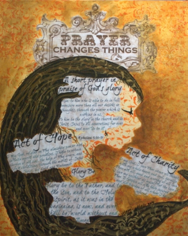 Print of original available herehttp://www.maggiegmiller.com/art-prints/prayer-changes-things