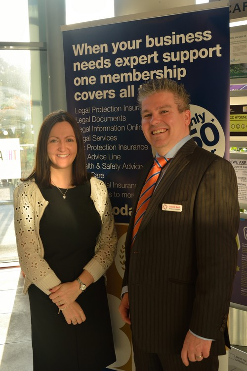 David Bell with Aideen McCambridge of ARU/Medbic