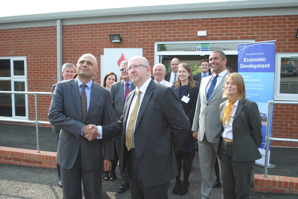 Secretary of State Mr Sajid Javid Visits Braintree