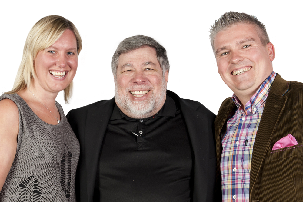 David Bell & Joanna Bell meeting Apple Co-founder Steve Wozniak