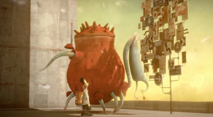 The Lost Thing  (2010), grand prize winner at the Annecy animation festival: detailed textures, slowish and complex character movements, warm light.