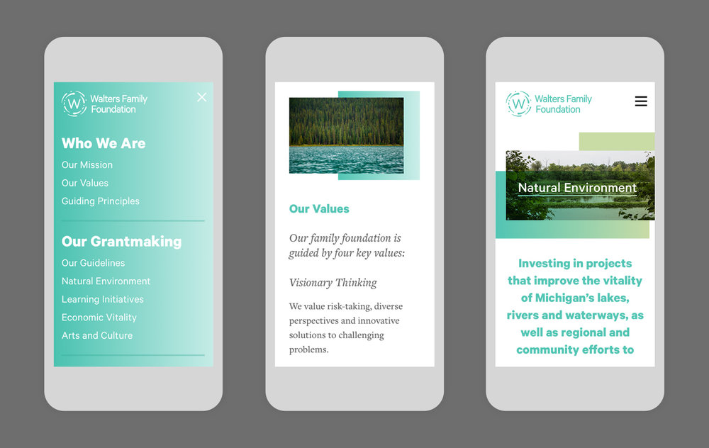The website scales responsively on smartphones & tablet devices