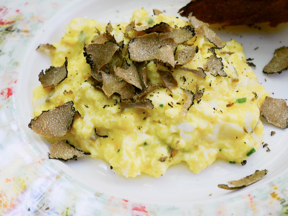 Black Truffle Soft Scrambled Eggs