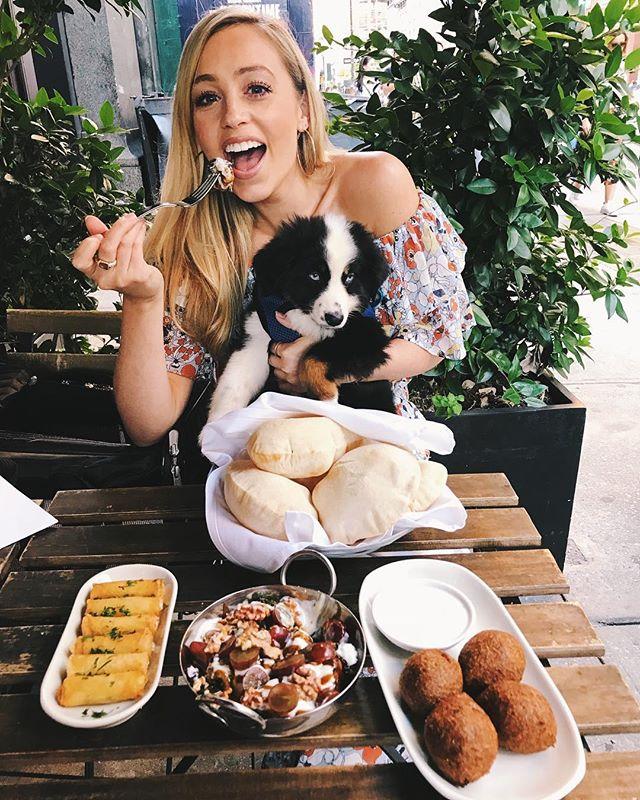 Mezze with mah main 🐶 @poppythetoyaussie 😍 @ililirestaurants