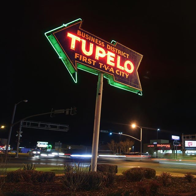Love all of the Neons in this city. Just missed the train that goes by as I was setting up my shot. I'm chill'n here hoping on another chance. #secondchance #tva #neonsign #justmissed #tupelo #exploreyourstate #whatsinyourbackyard