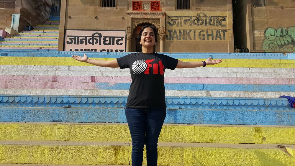 Avantika Bawa in Varanasi, India. Photo by Aschwin de Wolf