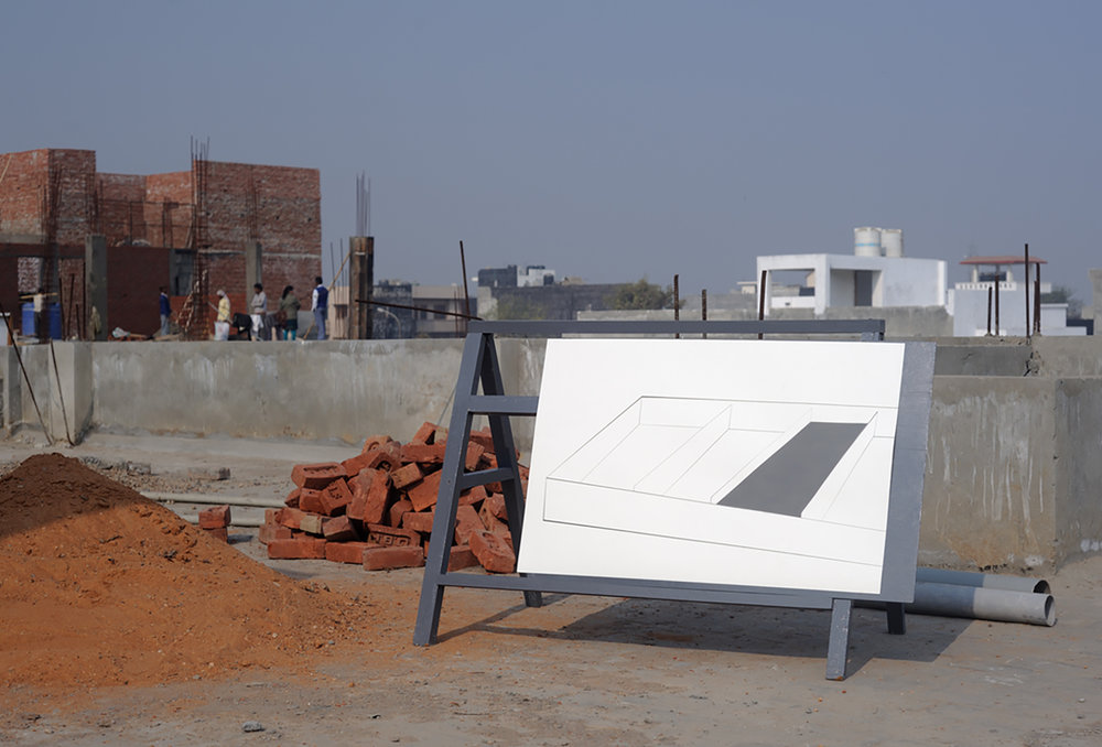 Another Documentation (study),  Digital print of site-specific installation, NOIDA, India, 2012