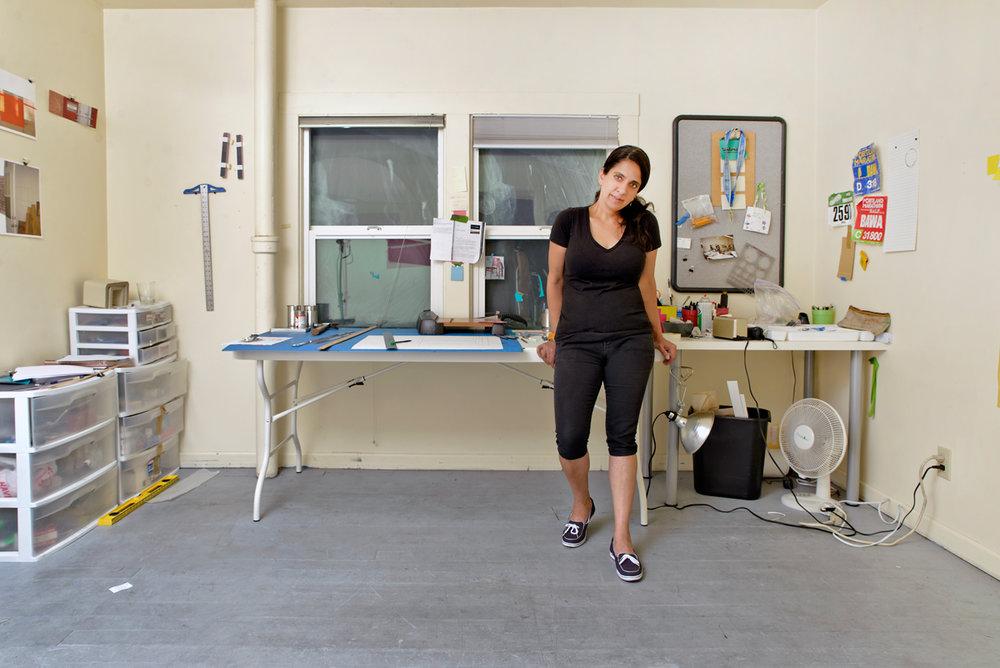 Avantika Bawa in her studio. Photo by Christine Taylor.