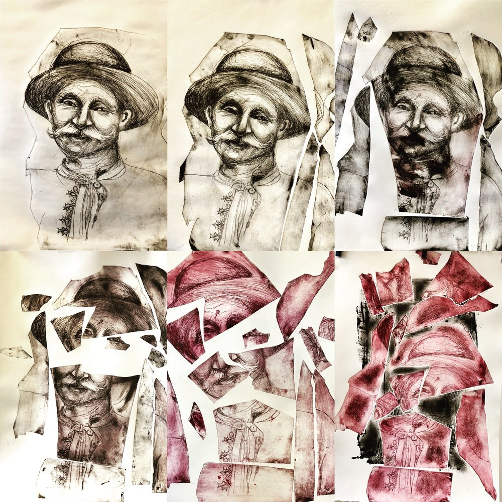 Heritage Excavation - Strongly influenced by living in both communist Hungary and suburban America. Her portraits have the passion of European Expressionism. She brings humor, detail and color to all of her work.