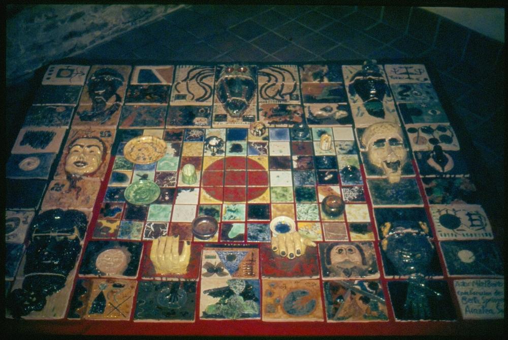 Mural cerámico La Danza del Loco, 1985