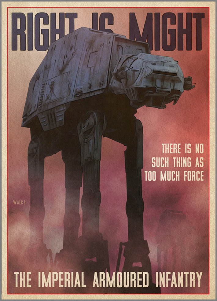 Star Wars Recruitment Poster Retro Empire Recruitment Posters