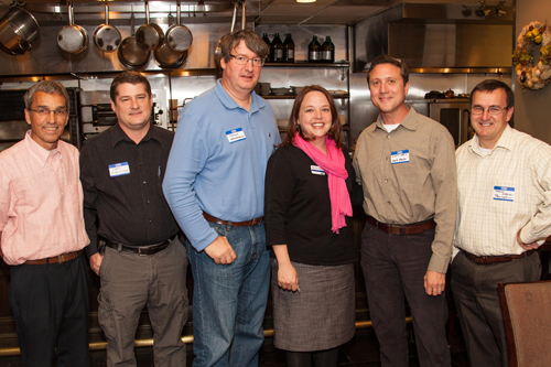 (left to right) Tasos Touloupis, Treasurer; Jerry Hartley, Vice President; Nick Hartmann, Community Representative; Amanda Storey, Director, United Way of Central Alabama; Scott Jones, Executive Coordinator 2012; Antony Osborne, President