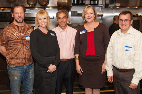 (left to right) George Reis, Restaurant Representative; Nora Banks, Development Coordinator, Make-A-Wish Alabama; Tasos Touloupis, Treasurer; Pam Jones, President, Make-A-Wish Alabama; Antony Osborne, President
