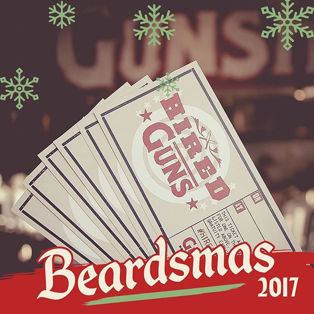 "Ho Ho Ho and Happy #Beardsmas! Give 'em 2018 ""Hired Guns"" Season Tickets, a @GunshowATL Mixology Class, our Red Beard Essential Seasoning Set or some Good Ass Ham Sugar!  Pop on over to redbeardmerch.com to snag your gifts now.  Link in bio."