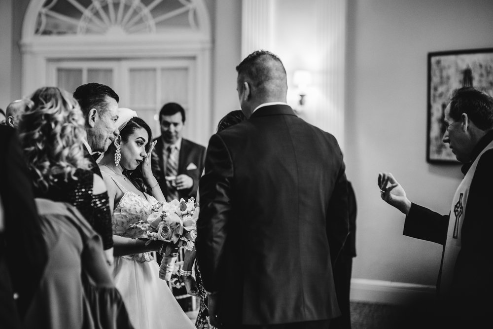 Dad Gives Away Daughter | Wedding Ceremony | The Berkeley Hotel | Shoot for Kit and Bug Photography | Asbury Park Photography | Spring Lake Photography | Wedding Photography | Jersey Shore Photography