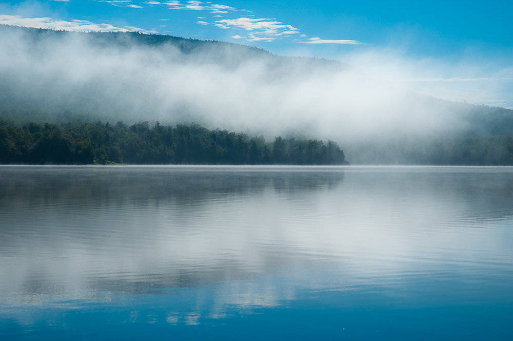 Misty Morning - First Roach Pond, Maine