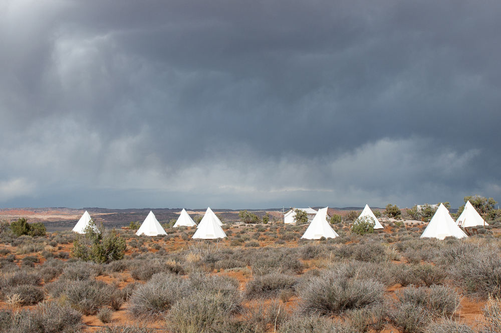 Teepee and Safari tent lodging at Moab Under Canvas