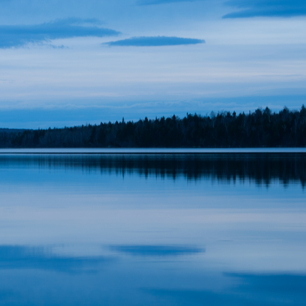 Twilight Reflections - First Roach Pond, Maine