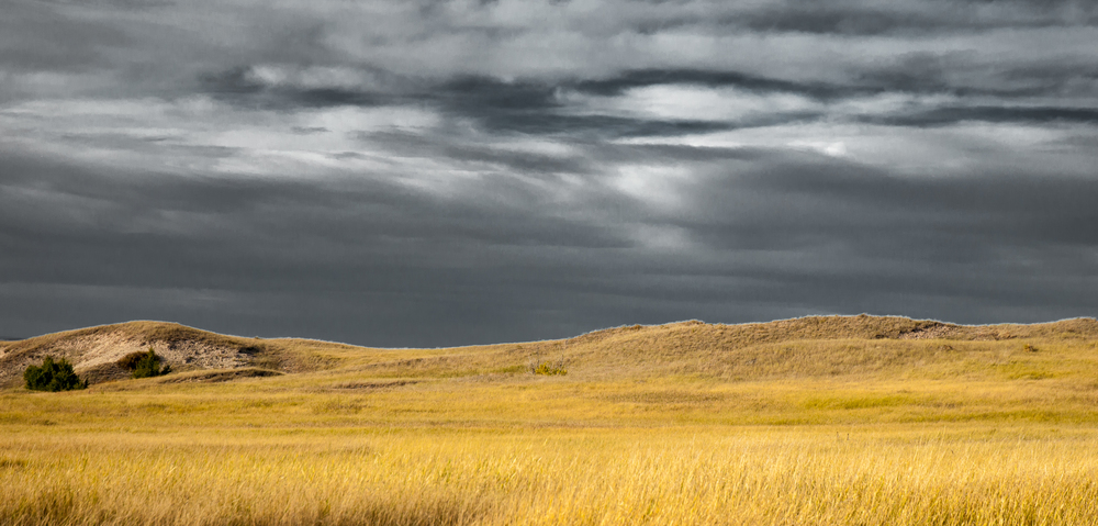 Approaching Storm - Badlands National Park