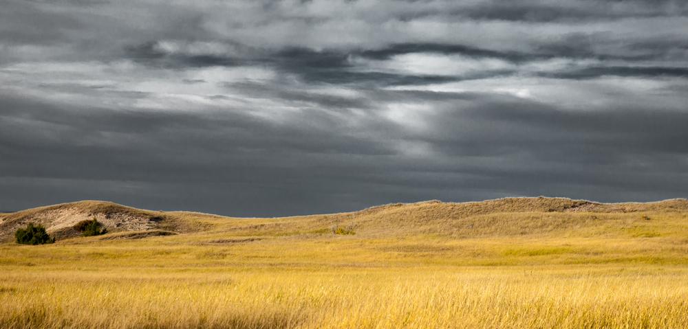 Approaching Storm - Badlands National Park
